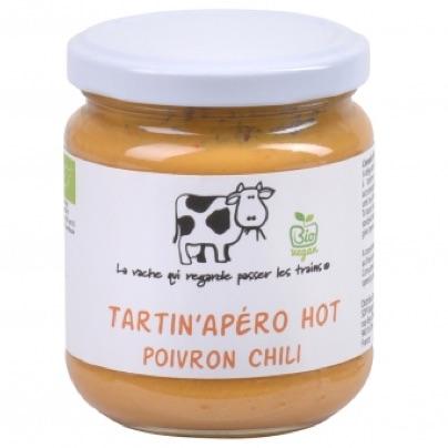 Tartin'Apéro Hot Poivron chili bio - 190 g (La vache qui regarde passer les trains)