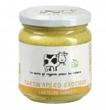 Tartin'Apéro Exotique bio Lentilles curry - 190 g (La vache qui regarde passer les trains)