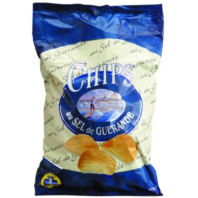 Chips au sel de Guérande sachet aluminium - 200 g (Altho)