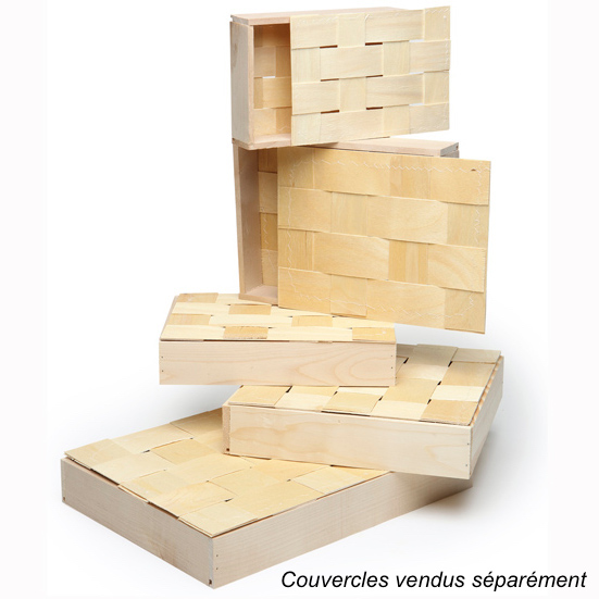 Coffret bois peuplier 255x190x50 mm - Chenonceau (Panibois)