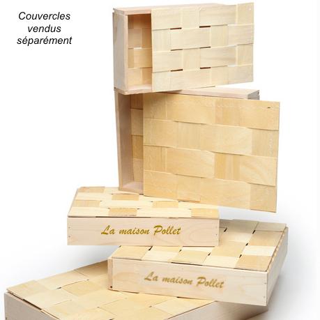Coffret bois peuplier 350x265x50 mm + Logo - Chambord (Panibois)
