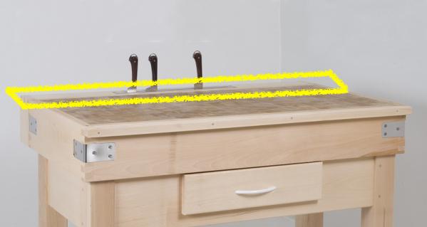 Alèse porte couteau pour billot - 600x500
