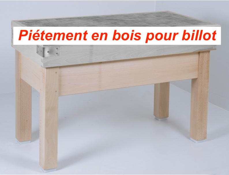 Piètement bois pour billot - 1300x500 mm
